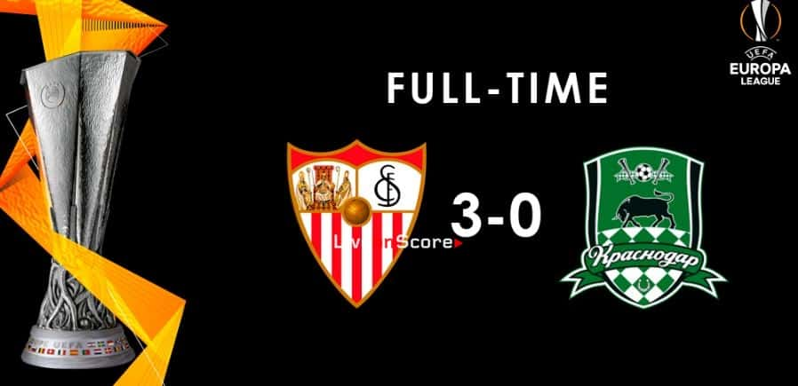 Sevilla 3-0 FC Krasnodar Full Highlight Video – Uefa Europa League 2018/2019