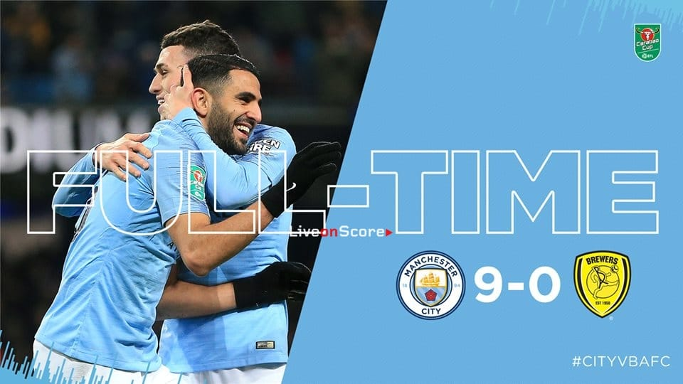 Manchester City 9-0 Burton Albion Full Highlight Video Carabao Cup 2019