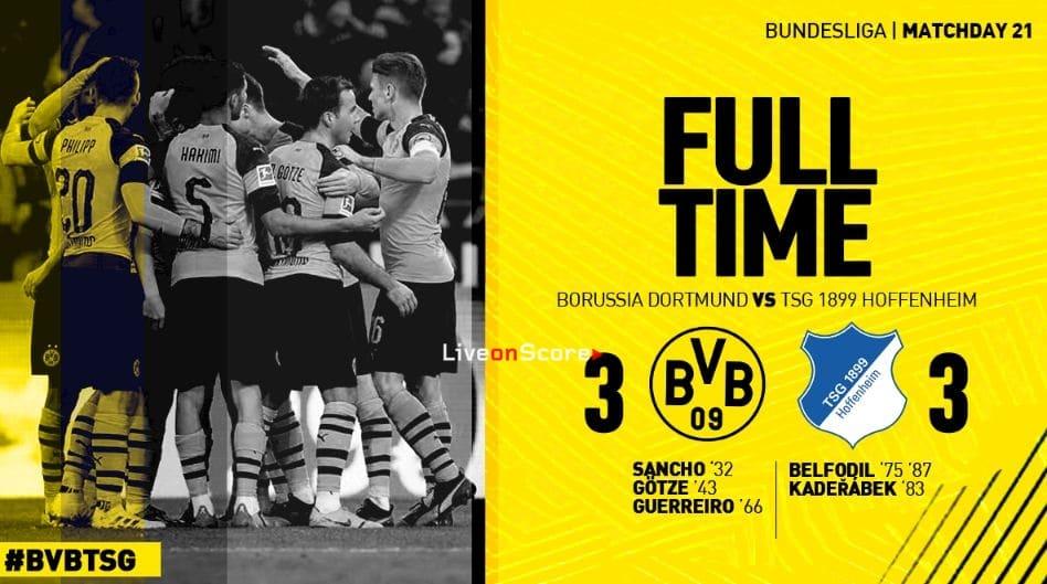 Borussia Dortmund 3-3 Hoffenheim Full Highlight Video – Bundesliga 2019