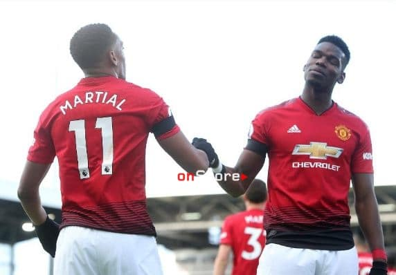 Pogba and Martial fire Man Utd into top four