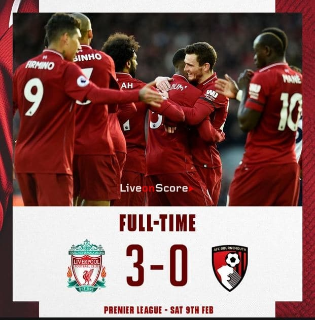 Liverpool 3-0 AFC Bournemouth Full Highlight Video – Premier League 2019