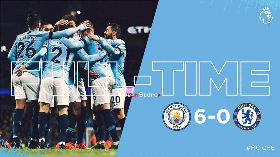 Manchester City 6-0 Chelsea Full Highlight Video – Premier League 2019