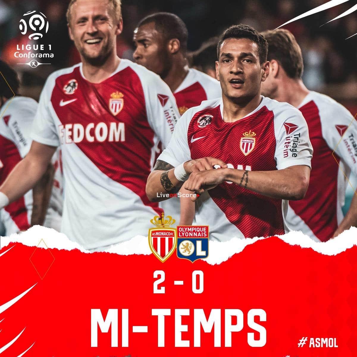 Monaco 2-0 Lyon Full Highlight Video – France Ligue 1 2019