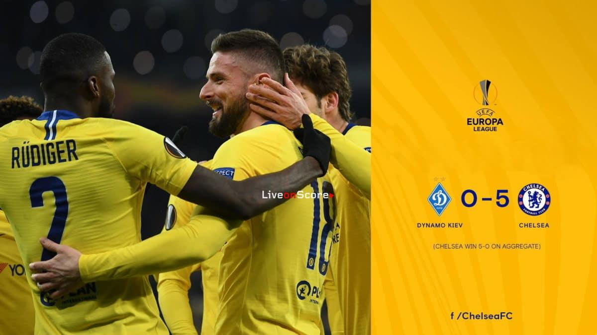 Dynamo Kyiv 0-5 Chelsea Full Highlight Video – Uefa Europa League 2019