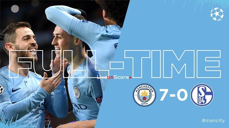 Manchester City 7-0 Schalke 04 Full Highlight Video – Uefa Champions League 2019