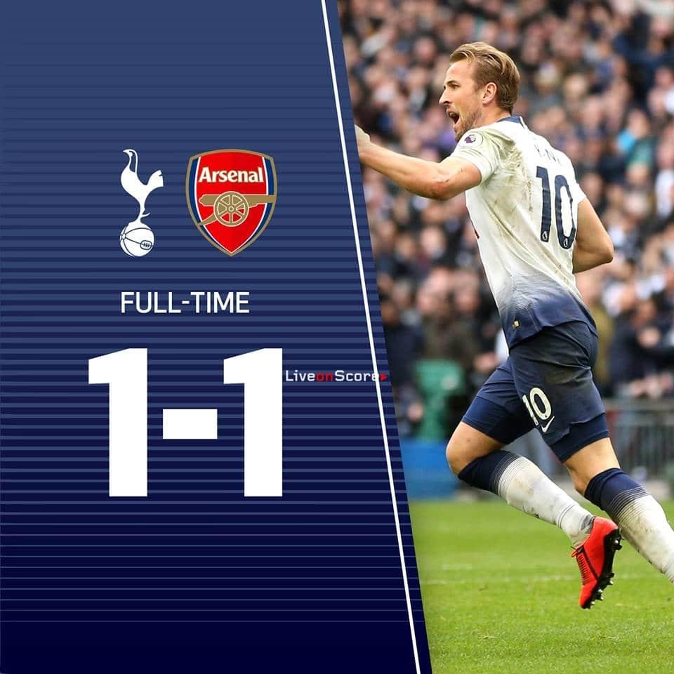 Arsenal Vs Tottenham Live Score Highlights From Premier: Tottenham Hotspur 1-1 Arsenal Full Highlight Video