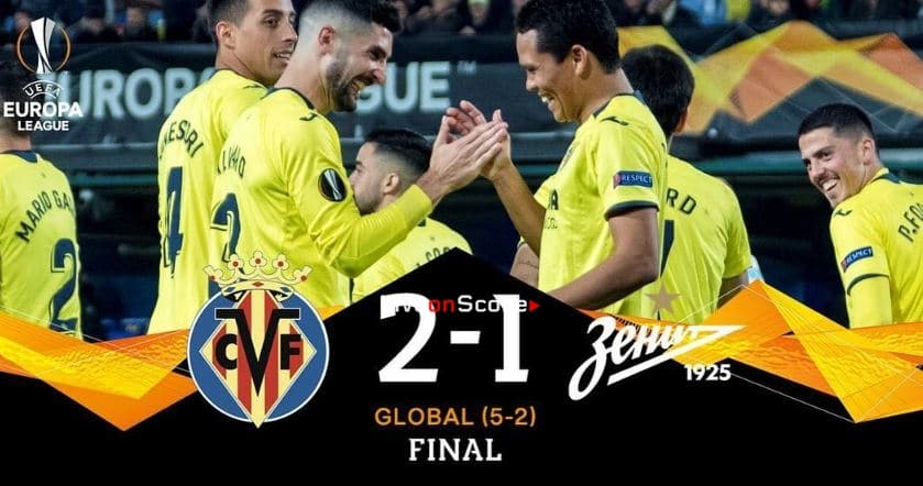 Villarreal 2-1 Zenit Full Highlight Video – Uefa Europa League 2019