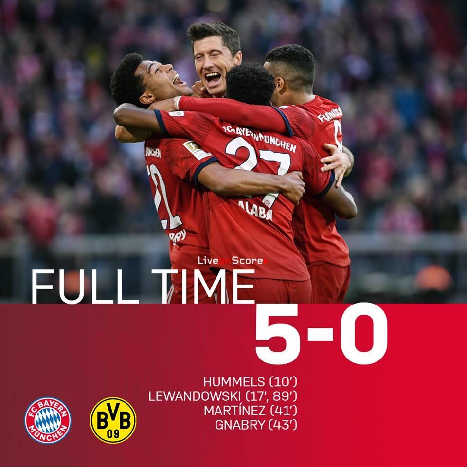 Bayern Dortmund 5 0