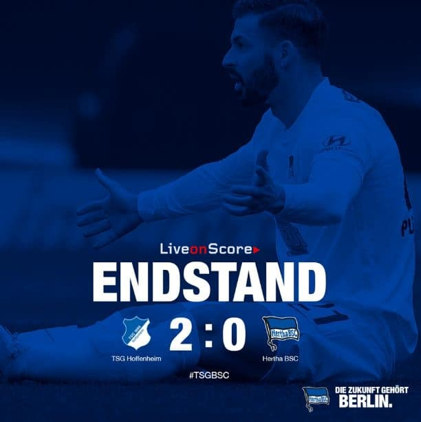 Hoffenheim 2-0 Hertha BSC Full Highlight Video – Bundesliga 2019