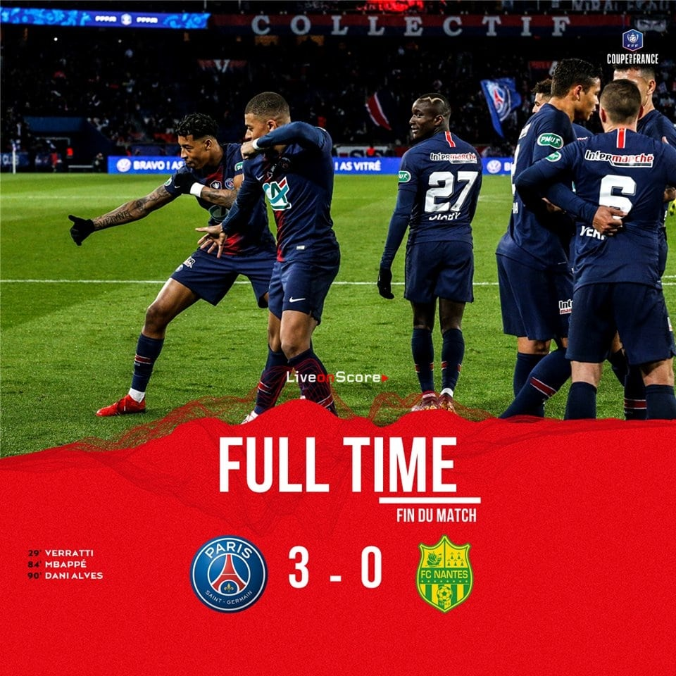 Париж нант футбол