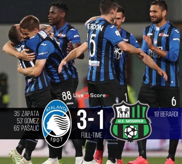 Atalanta 3-1 Sassuolo Full Highlight Video – Serie Tim A 2019