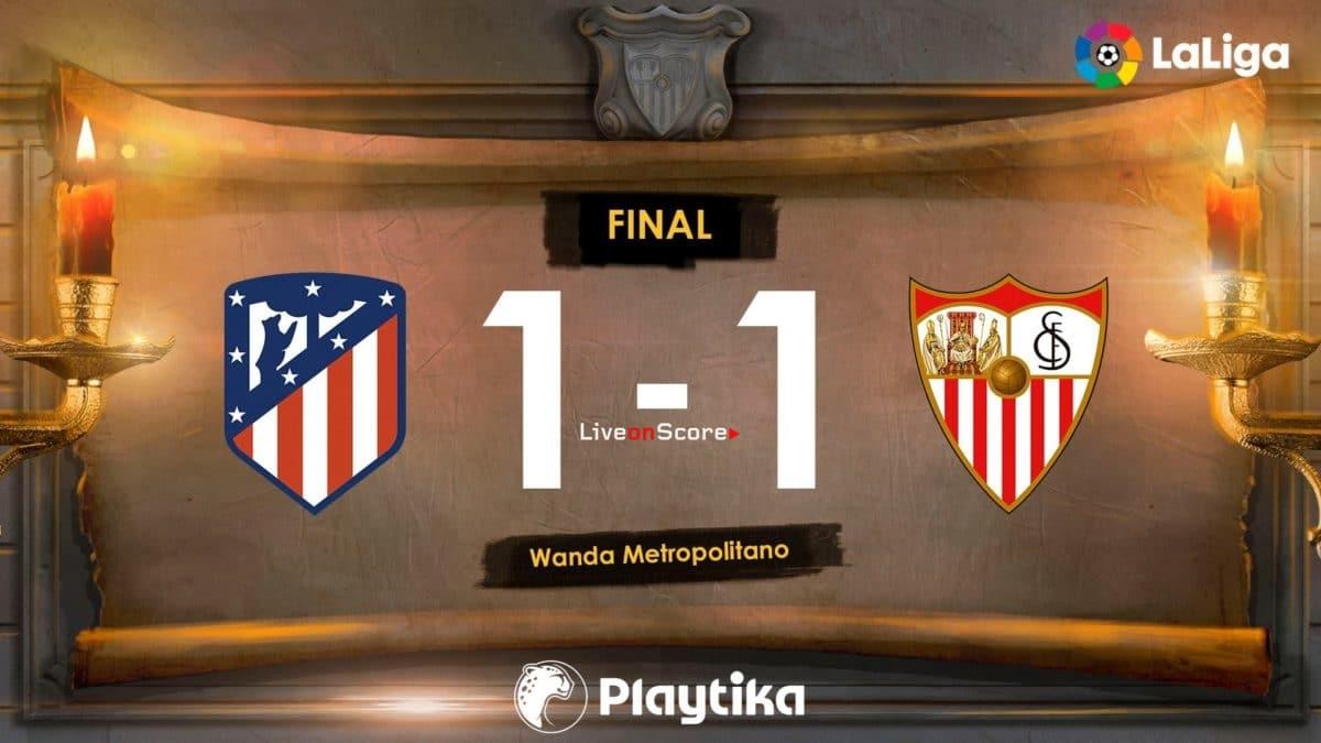 Atletico Madrid 1-1 Sevilla Full Highlight Video – LaLiga Santander 2019