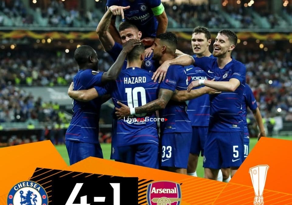 Chelsea 4 1 Arsenal Full Highlight Video Uefa Europa