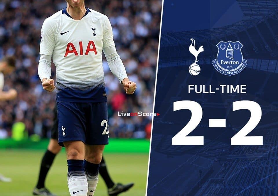Tottenham Hotspur 2-2 Everton Full Highlight Video – Premier League 2019