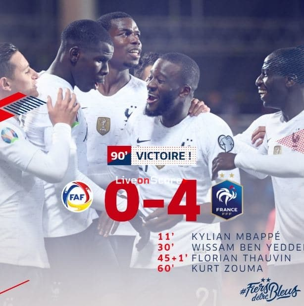 Andorra 0-4 France Full Highlight Video – Euro 2020 Qualification