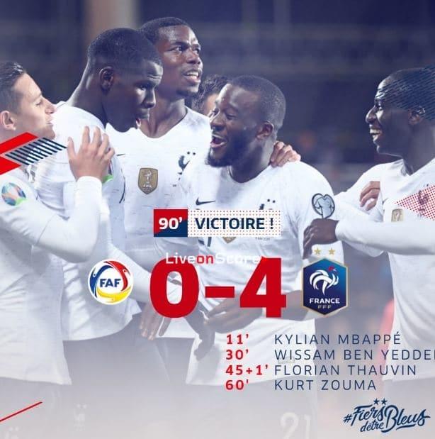 Andorra 0-4 France Full Highlight Video – Euro 2020 Qualification