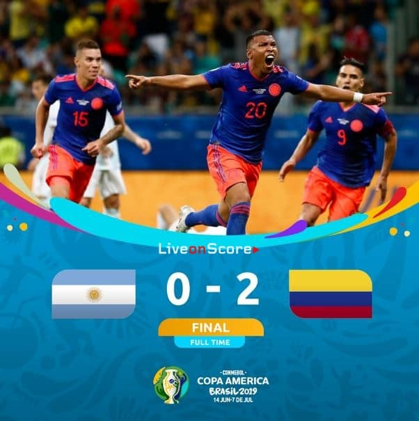 Argentina 0-2 Colombia Full Highlight Video – Copa America 2019