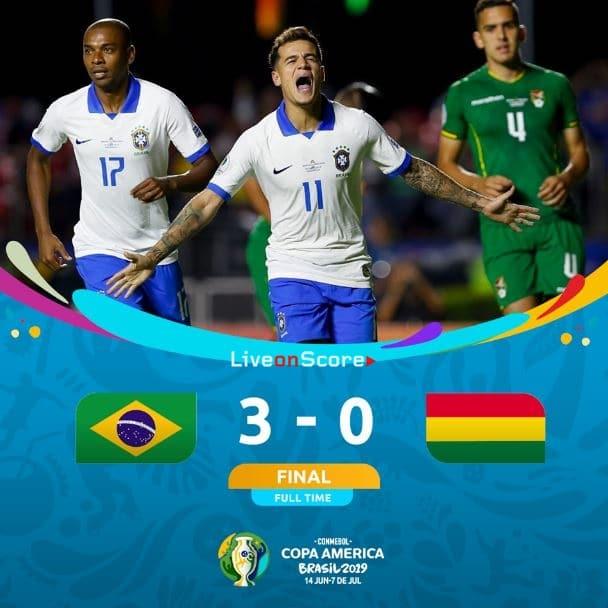 Brazil 3-0 Bolivia Full Highlight Video – Copa America 2019