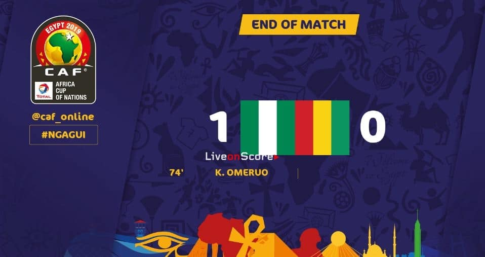 Nigeria 1-0 Guinea Full Highlight Video –  Africa Cup of Nations 2019