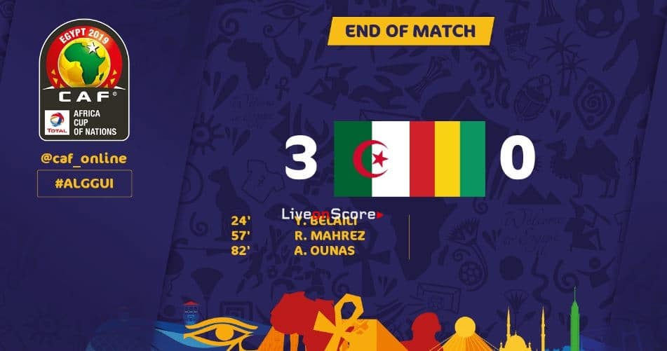 Algeria 3-0 Guinea Full Highlight Video – Africa Cup of Nations 2019