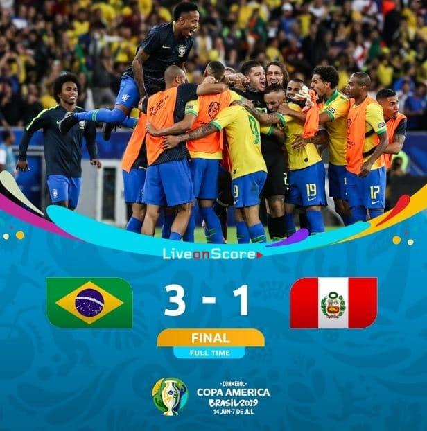 Brazil 3-1 Peru Full Highlight Video – Copa America 2019