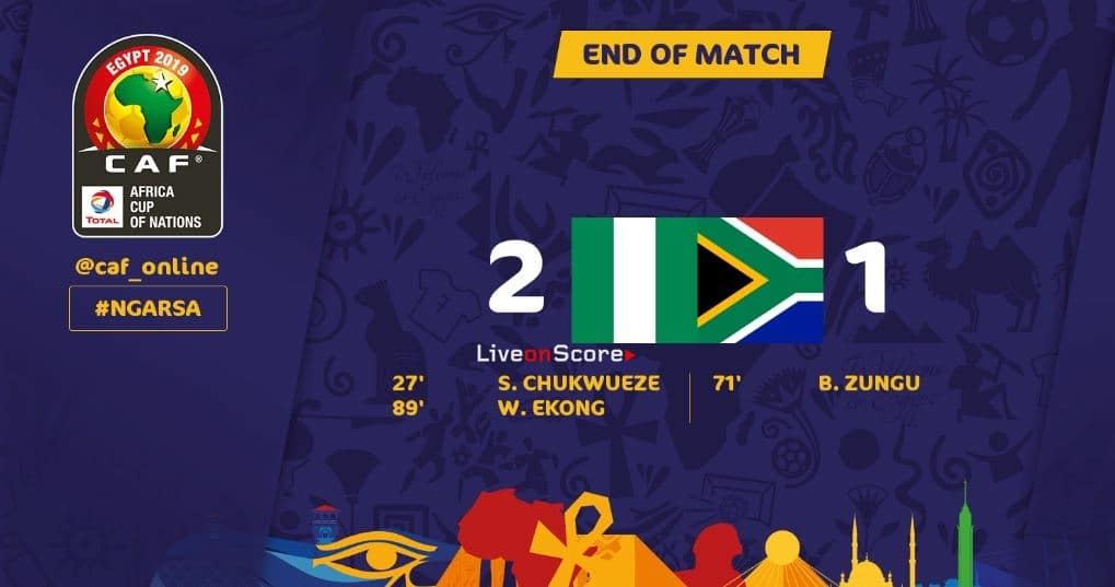 Nigeria 2-1 South Africa Full Highlight Video –  Africa Cup of Nations 2019