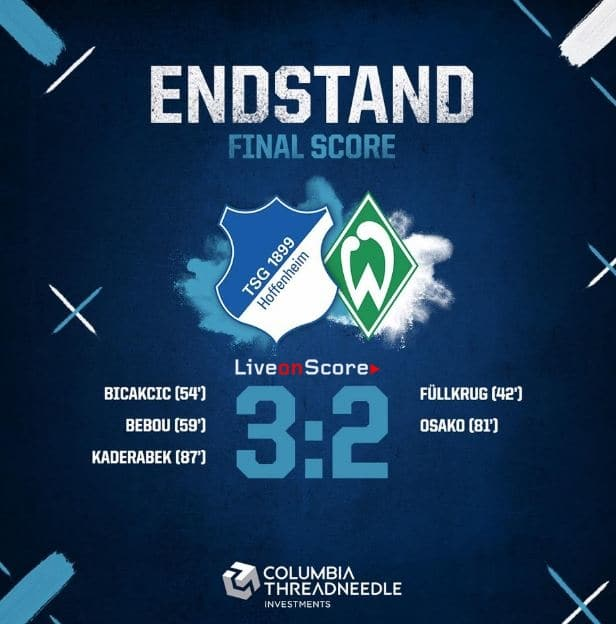 Hoffenheim 3-2 Werder Bremen Full Highlight Video – Bundesliga
