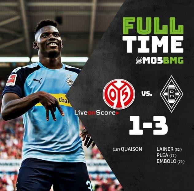 Mainz 05 1-3 Borussia Mönchengladbach Full Highlight Video – Bundesliga