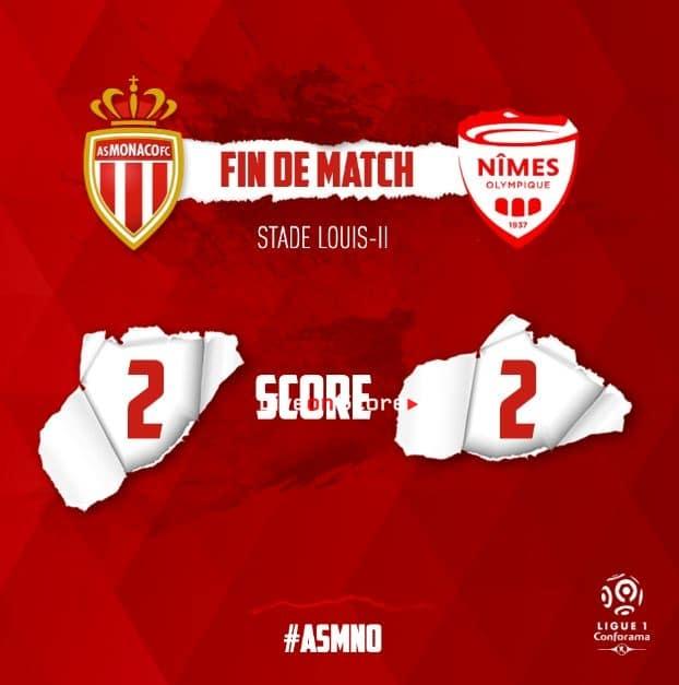 Monaco 2-2 Nimes Full Highlight Video – France Ligue 1