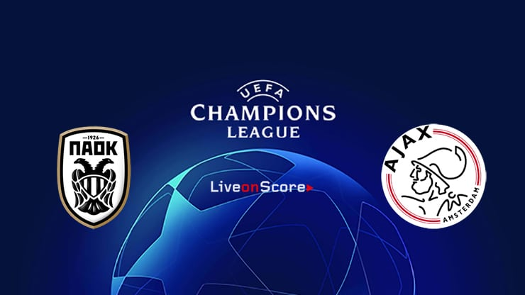 ΠΑΟΚ - ΑΓΙΑΞ  PAOK vs Ajax    live streaming