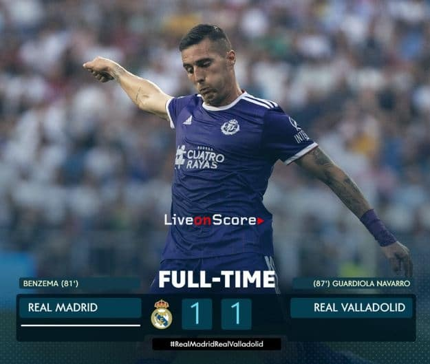 Real Madrid 1-1 Valladolid Full Highlight Video – LaLiga Santander