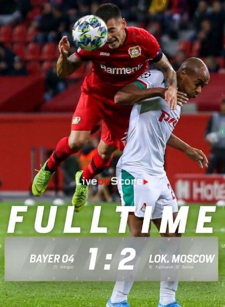 Bayer Leverkusen 1-2 Lokomotiv Moscow Full Highlight Video – Uefa Champions League