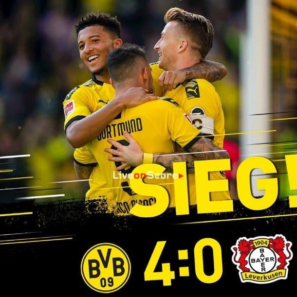 Dortmund 4-0 Bayer Leverkusen Full Highlight Video – Bundesliga