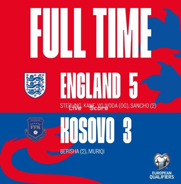 England 5-3 Kosovo Full Highlight Video – EURO 2020 Qualification