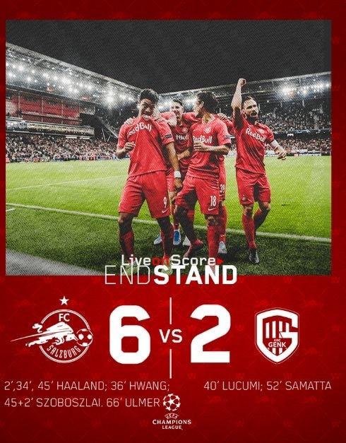 Salzburg 6-2 Genk Full Highlight Video – Uefa Champions League