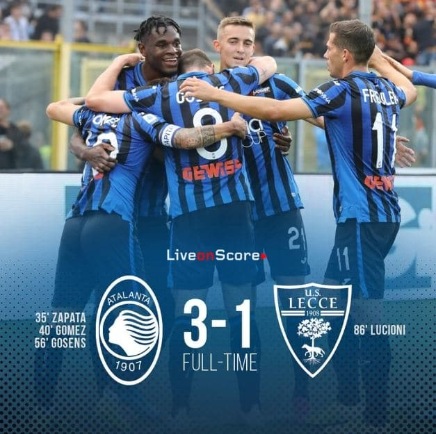 Atalanta 3-1 Lecce Full Highlight Video – Serie Tim A