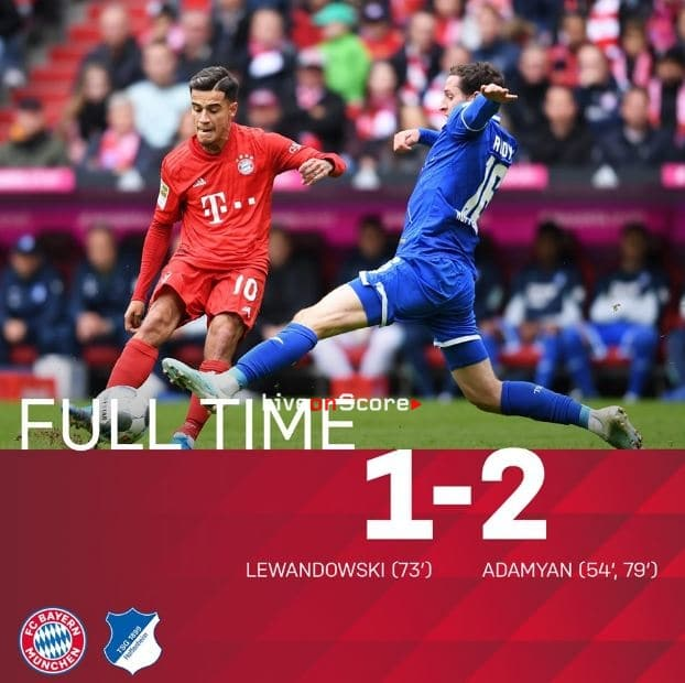 Bayern Munich 1-2 Hoffenheim Full Highlight Video – Bundesliga