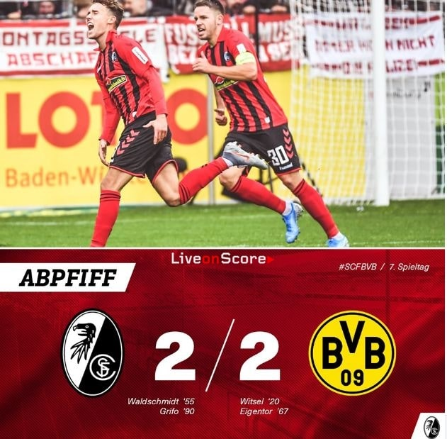 Freiburg 2-2 Dortmund Full Highlight Video – Bundesliga