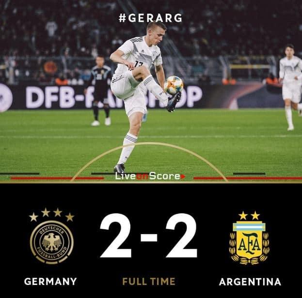 Germany 2-2 Argentina Full Highlight Video – Friendly International