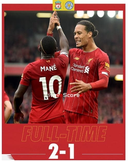 Liverpool 2-1 Leicester Full Highlight Video – Premier League