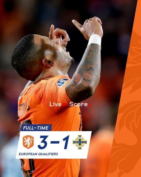 Netherlands 3-1 Northern Ireland Full Highlight Video – EURO 2020 Qualification