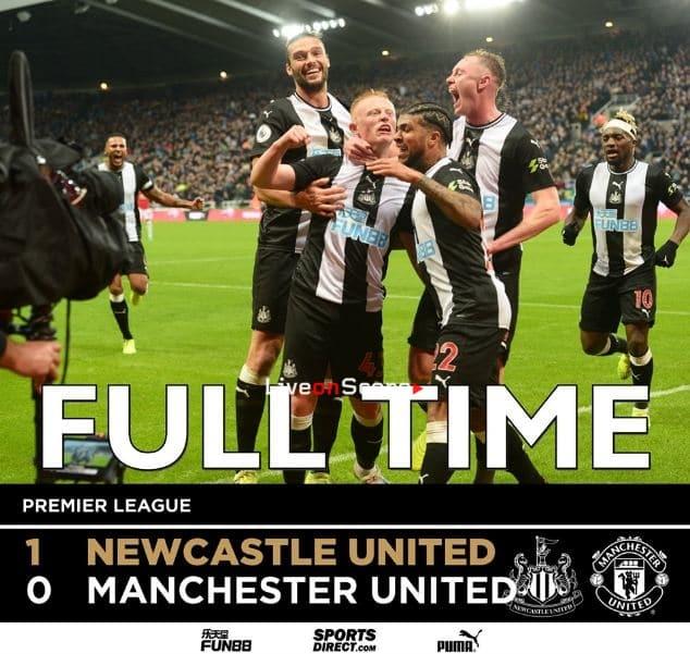 Manchester united vs ньюкасл yunaytet