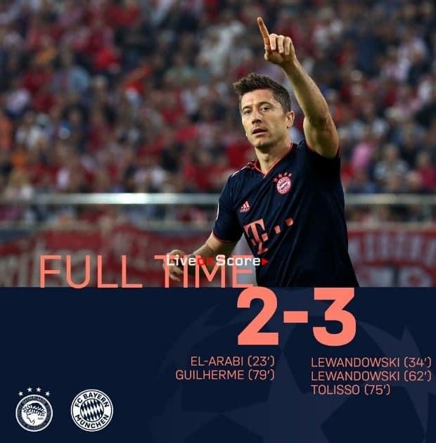 Олимпиакос бавария мюнхен футбол лига чемпионов