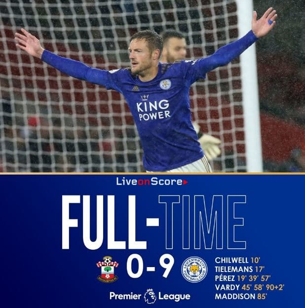 Image result for southampton leicester score