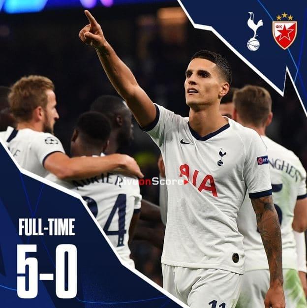 Tottenham 5 0 Crvena Zvezda Alle Highlights Und Tore Im