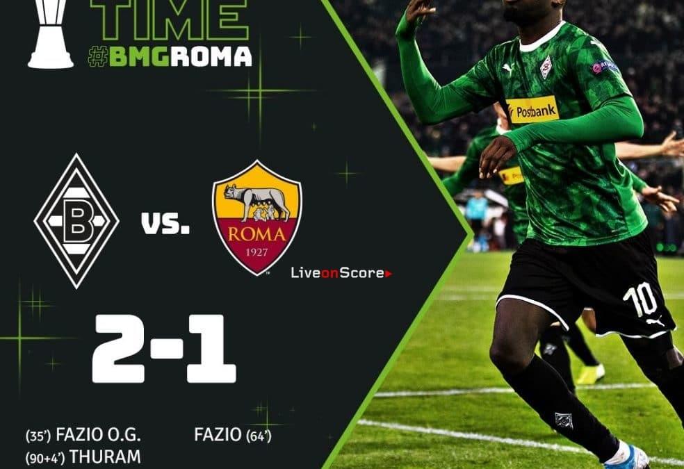 B. Monchengladbach 2-1 AS Roma Full Highlight Video – Uefa Europa League