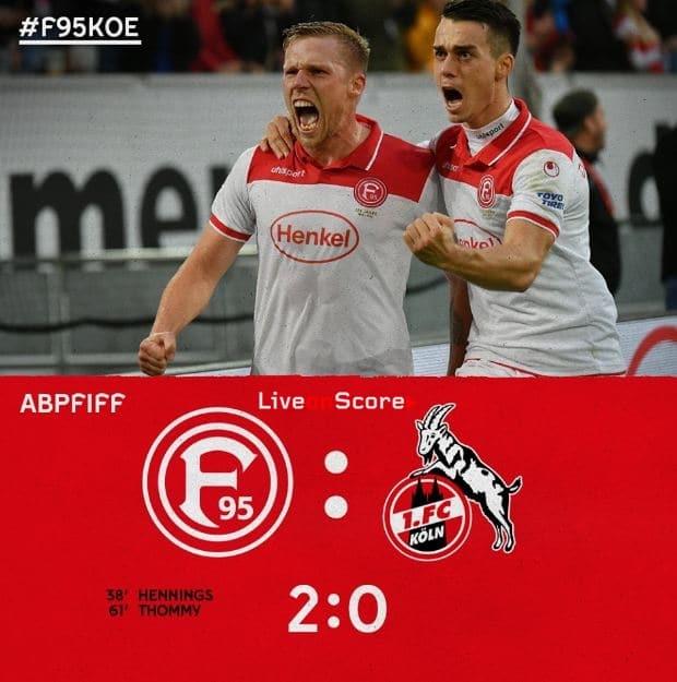 Dusseldorf 2 0 Fc Koln Volles Highlight Video Bundesliga