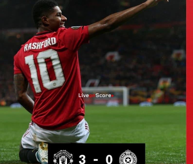 Manchester Utd 3-0 Partizan Full Highlight Video – Uefa Europa League