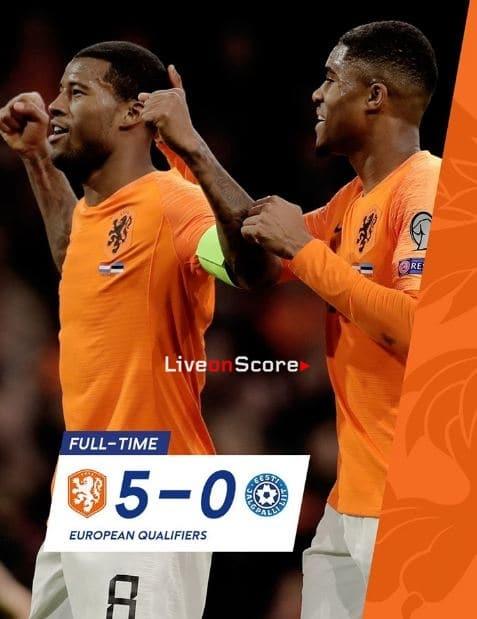 Netherlands 5-0 Estonia Full Highlight Video – EURO 2020 Qualification