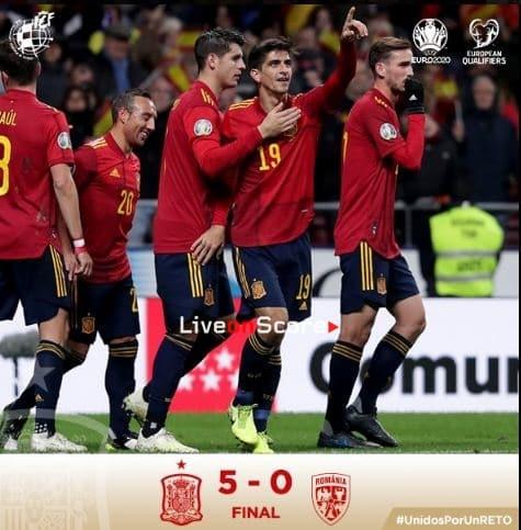 Spain 5-0 Romania Full Highlight Video – EURO 2020 Qualification